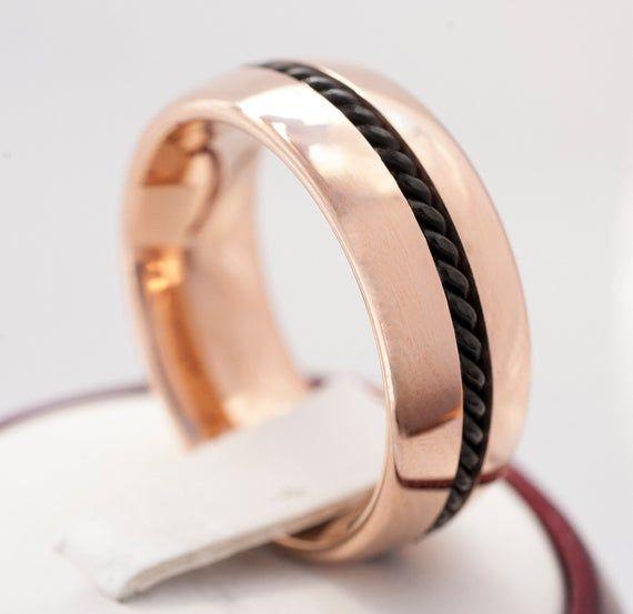 NEW Men/'s Shiny Tungsten Carbide Bracelet w// Black /& Yellow Carbon Fiber Inlay