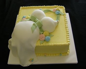 Baby Shower cake....I love the colors on this one
