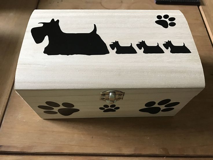 A personal favourite from my Etsy shop https://www.etsy.com/uk/listing/524900842/wooden-scottie-dog-hand-decorated-box