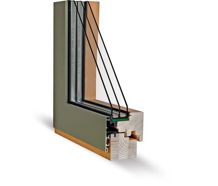 Okno WINSTAR INTEGRAL 78 | Vyrobek je kompromisem perspektivní technologie, designu a praktičnosti. Hliníkové opláštění z exteriéru zaručí oknu jeho bezúdržbovost a dřevo v interiéru naplno ukáže krásu přírody. Tento produkt mimo jiné dosahuje dobrých tepelně izolačních vlastností. Hliníkové opláštění zcela překrývá venkovní křídlo a tím tvoří jednotný vzhled pásu oken v kombinaci s pevně zasklenými okenními díly.