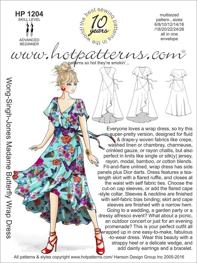 wrap dress instructions tutorial