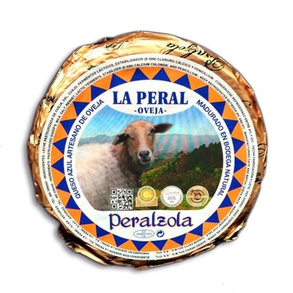 "Queso azul asturiano de oveja Peralzola. Premio Cincho de Plata 2010. Medalla de Oro ""WORLD CHEESE AWARDS 2011"" Medalla de Plata ""WORLD CHEESE AWARDS 2010""  Sabor intenso y cremoso."