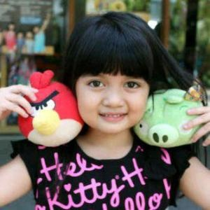 Afiqah amanina and her cutiest angry birds stuffed