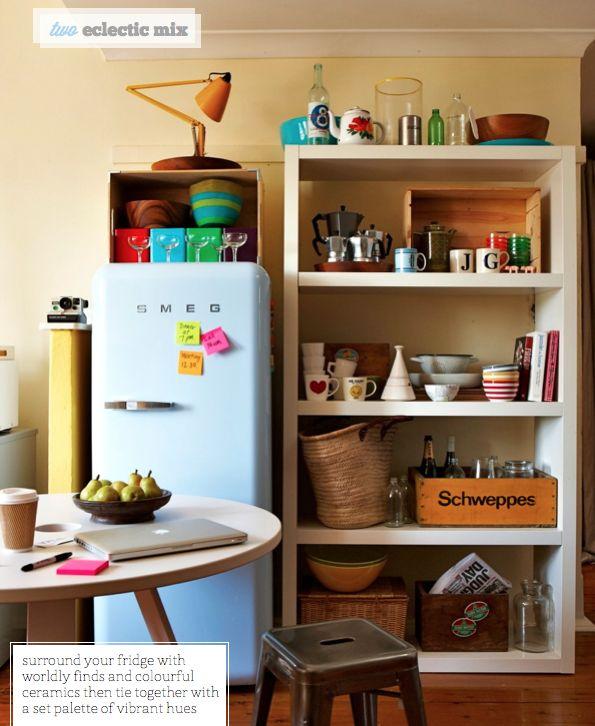 love the open shelves