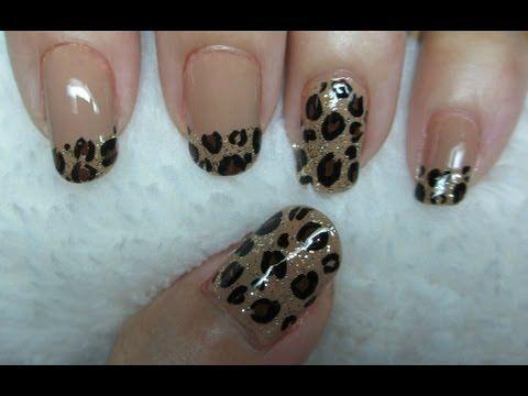 Leopard Print Nail Art video tutorial
