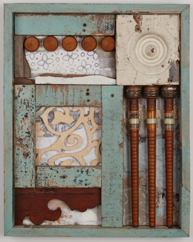 Rhyme and Reason, by Leslie McCallen Gilbert, mixed media, collage, assemblage