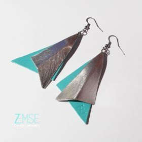 Silver-turquoise earring by ZEMSE