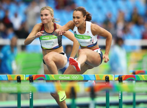 Jessica Ennis-Hill Photos Photos - Jessica Ennis-Hill of Great Britain competes in the Women's Heptathlon 100 Meter Hurdles on Day 7 of the Rio 2016 Olympic Games at the Olympic Stadium on August 12, 2016 in Rio de Janeiro, Brazil. - Athletics - Olympics: Day 7