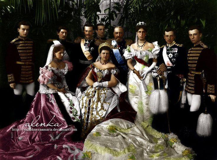 Guests at the coronation of Tsar Nicholas II. in 1896.