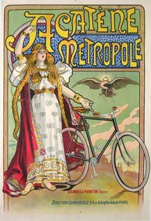 Acatene Metropole Vintage Bicycle Poster cycling motivation, cycling posters, cycling, cycling quotes, classic cycling