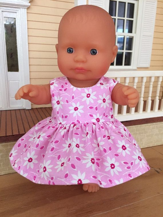 White Flowers on Pink Summer Dress by DebsDollsClothes on Etsy