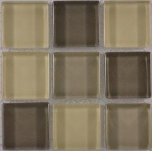 Product ID:OPUS17 Miki 1X1 Glass Blend Beige Mosaic #Profiletile