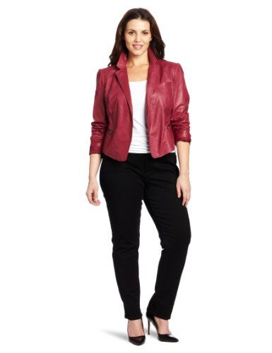 Kenneth Cole Women`s Plus Size Exposed Zipper Jacket for only $245.40 You save: $153.60 (38%) + Free Shipping