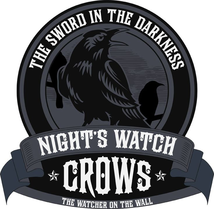 Night's Watch T-Shirt Graphic Black  Available as a T-Shirt from my Redbubble