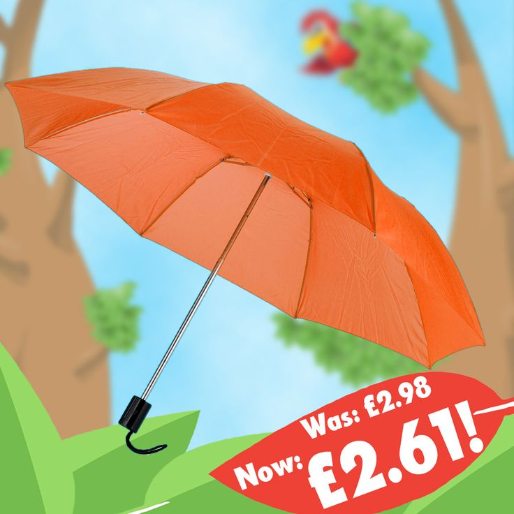 Price drop time! The Essex Folding Umbrella is now £2.61. That's 37p cheaper on the largest quantity! https://www.promoparrot.com/essex-folding-umbrella.html #promo #pricedrop #umbrella