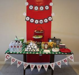 Baseball Party ideas.  Pix are from adorable twin boys' baby shower, but I like idea for boy's birthday too!
