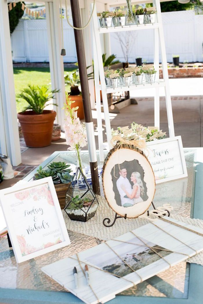 Entrance Table Decor From A Boho Rustic Chic Engagement Party On Kara S Party Ideas Karaspartyideas Com 21