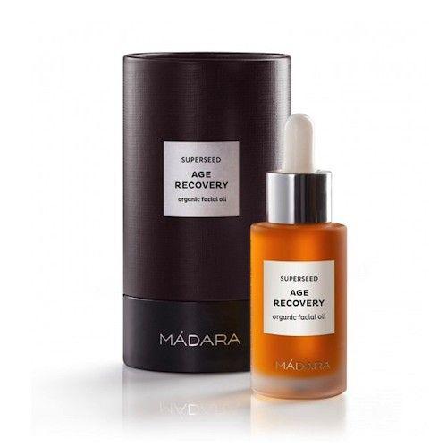 MADARA SUPERSEED Anti-Age recovery beauty oil. Zeer effectief voor mensen met een vermoeide huid, lijntjes en rimpels, ouderdomsvlekken, littekens, droge huid en gevoelige huid.  Deze krachtige anti-age herstelbehandeling met 10 zeldzame regenererende droge oliën diep verjongt en herstelt de vermoeide huid.