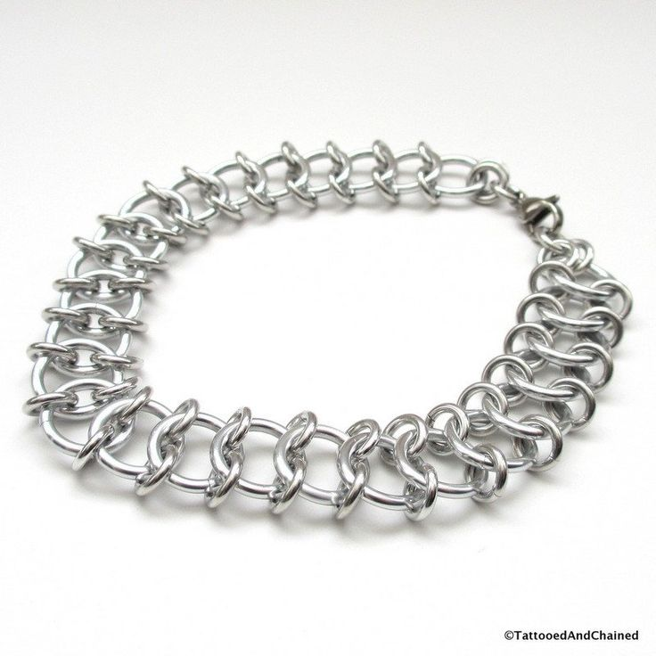 Centipede weave chainmaille anklet - Tattooed and Chained Chainmaille  - 1