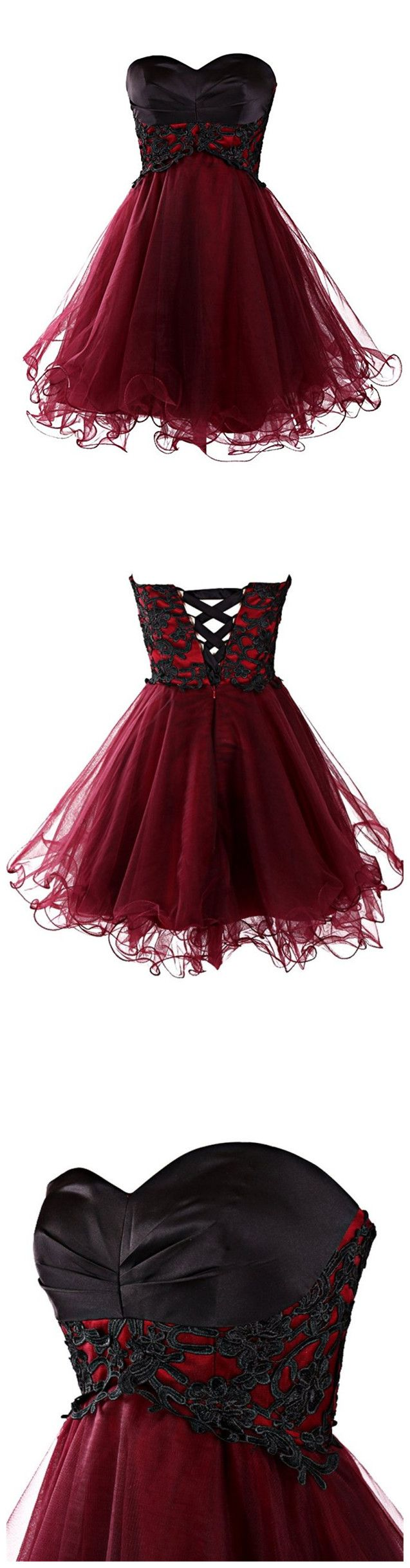 Burgunder Homecoming Kleider Kurze Ballkleider von mfprom – ivodresses–Homecoming dresses Cocktail dress