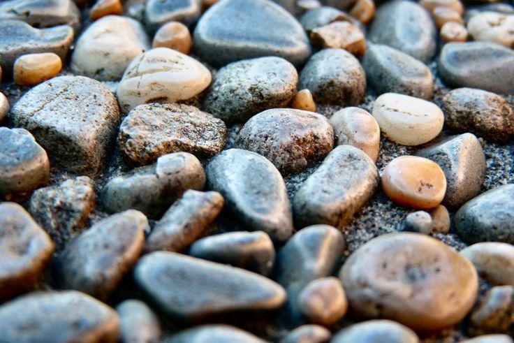 Macro of small rocks