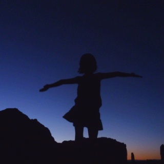 Flying girl in the dark - Arches NP.  © Copyright Yves Philippe