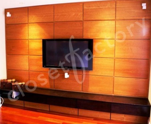 Miami Rhapsody Custom Entertainment Center By Closet Factory