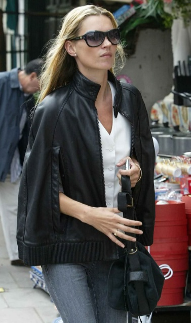 Kate Moss- leather cape
