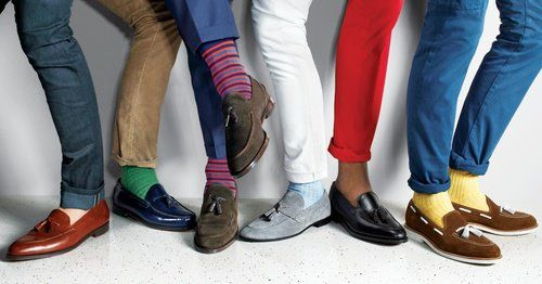 Sapatos masculinos  – Pés coloridos também para os homens, tendências para todos os estilos