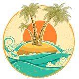 Vintage Sun And Sea Waves. Vector Icons Of  Illust - Download From Over 50 Million High Quality Stock Photos, Images, Vectors. Sign up for FREE today. Image: 32251715