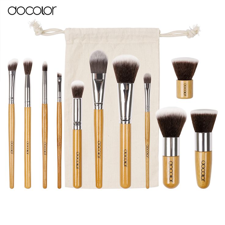 face mask Docolor Bamboo Makeup Brushes 11Pcs Makeup brushes tool Set Makeup Brush Tool Kit For Eye Shadow Cosmetic Brush Maquiage -- Click the VISIT button for detailed description on AliExpress website
