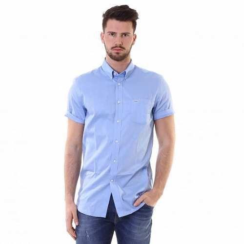 Prezzi e Sconti: #Lacoste camicia manica corta j5t celeste  ad Euro 90.00 in #Lacoste #Uomo camicie