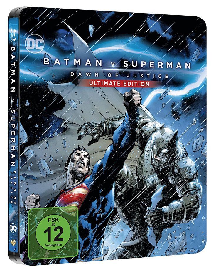 Batman v Superman: Dawn of Justice (Illustrated Artwork - Amazon exklusiv (Steelbook)