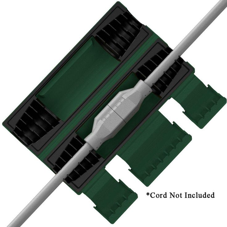 Twist and Seal Heavy Duty Cord Protector, Green