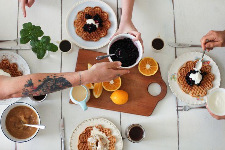 lemon and ricotta waffles