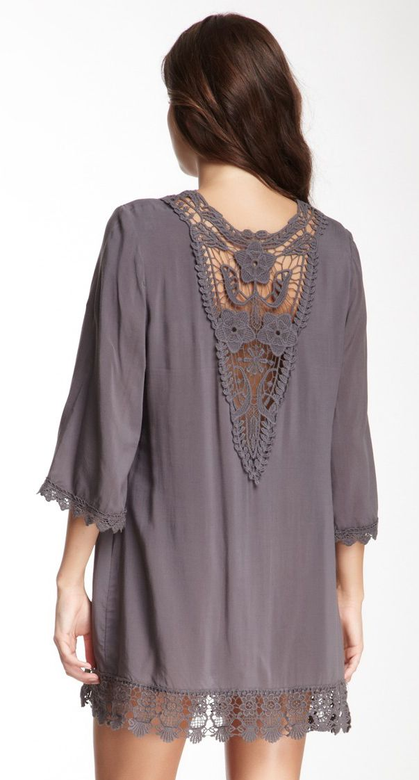 lace & fabric tunic