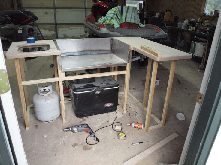 Laying Out The Kitchen And Bar Area Pontoon Boat