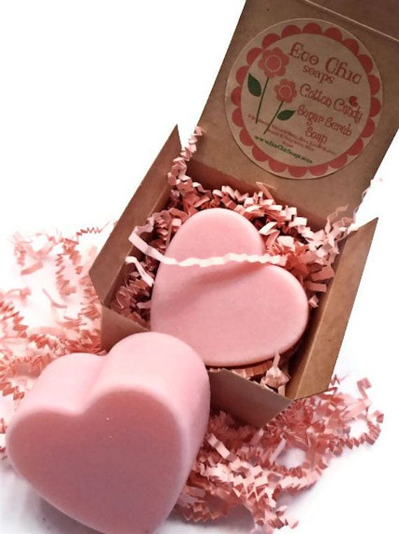 Valentine's Gift  Cotton Candy Sugar Scrub Soap by EcoChicSoaps, $5.50