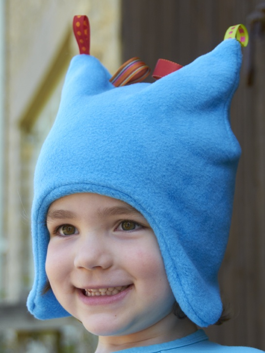 Turquoise Fleece Toggle Hat