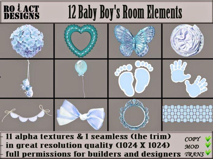 Ro!Act Designs 12 Baby Boy's Room Elements