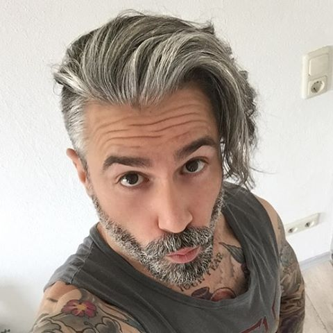 guy long hair style 17 best ideas about silver foxes on silver 2735 | 0e98c448b0b23d29be26718e41e5be4f