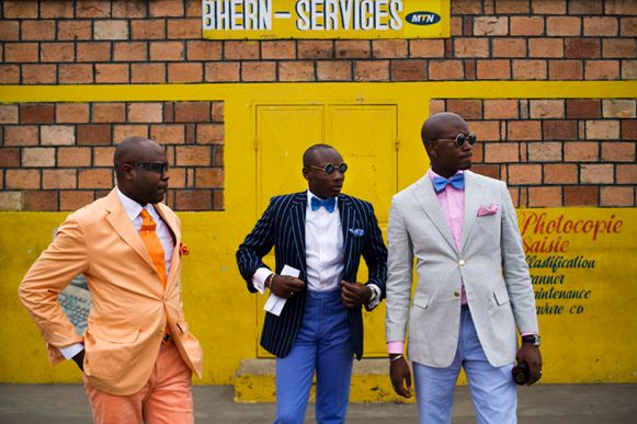 3 Congo Sapeurs. A little known subculture in the midst of the slums of Africa of Dandyism or Sapologie. What stands to be a 'True Gentleman' & way of living