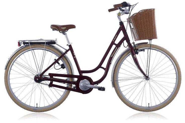 Vermont Bicicleta urbana Bicicleta Saphire 7s rojo: Amazon.es: