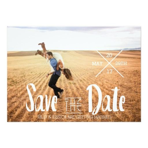 Modern Bohemian Typography | Photo Save The Date www.zazzle.com/redefineddesigns?rf238262815644635252