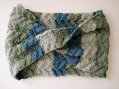 Tide pool scarf. Free pattern. Easy mobius with a mock cable pattern.