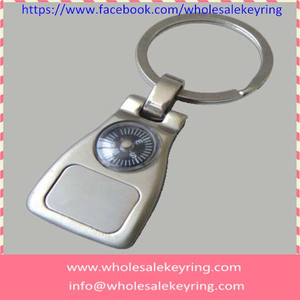 Creative zinc alloy promotional keyring with compass wholesale