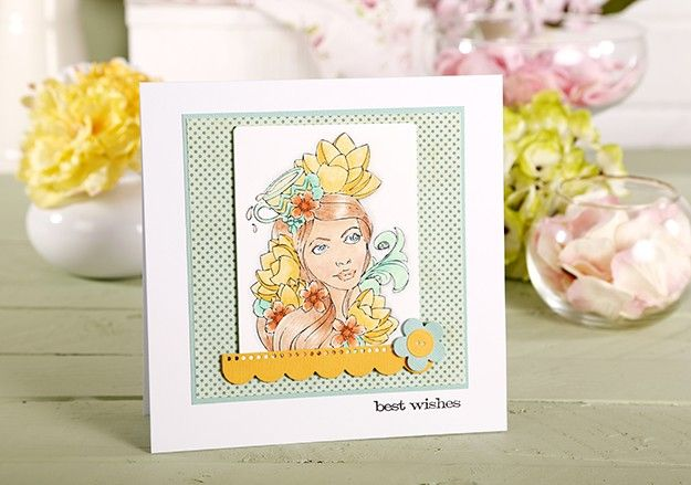 Friday Bonus Sneak Peek of Simply Cards & Papercraft issue 126 (on sale 17th July) From a feature using Primsmacolor pencils and Prima Bloom stamps. #prismacolor #prima