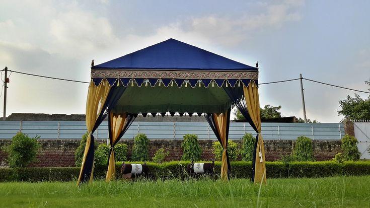 Blue Chaupal Tent