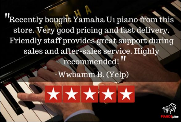 Thank you for the 5 star Yelp Review Wwbamm! For authorized Yamaha Pianos checks us out here