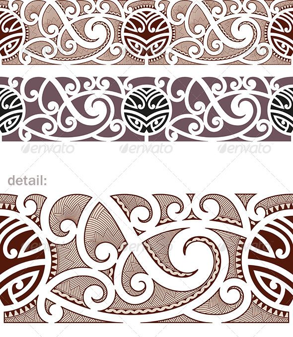 Maori Styled Seamless Pattern — JPG Image #creature #curl • Available here → https://graphicriver.net/item/maori-styled-seamless-pattern/5137243?ref=pxcr